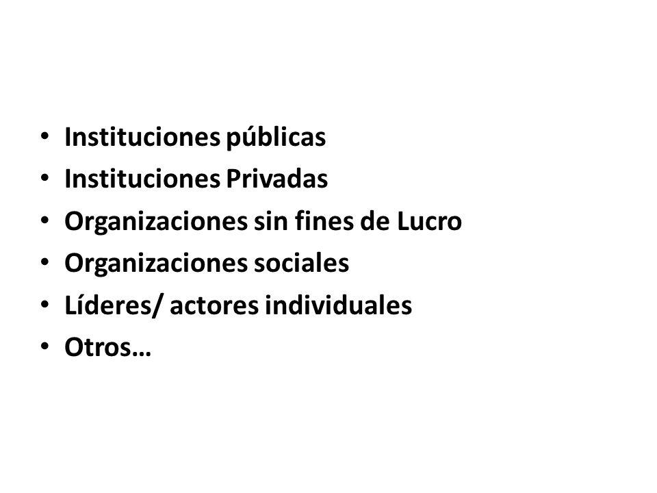 Instituciones públicas