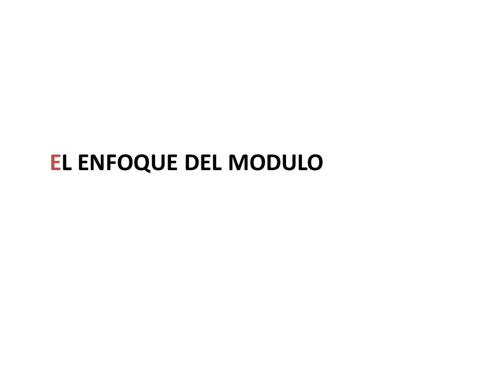 EL ENFOQUE DEL MODULO