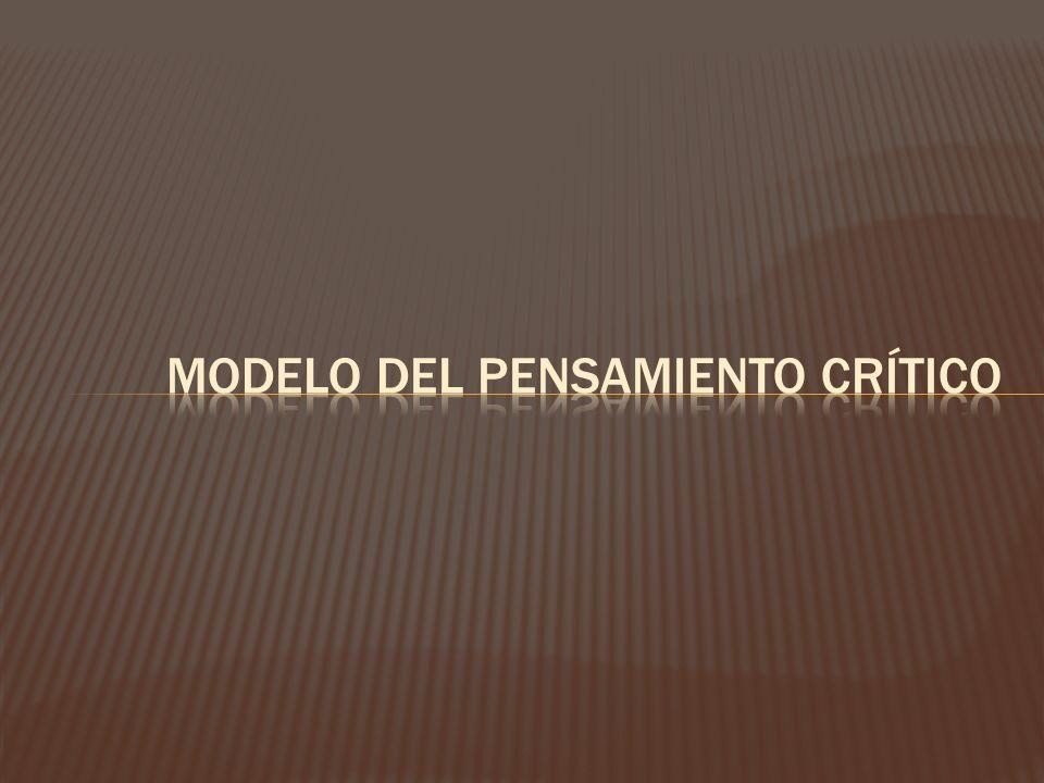 Modelo del pensamiento crítico