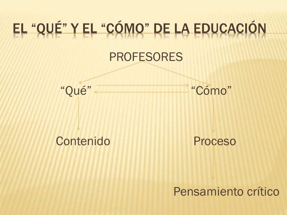 El qué y el cómo de la educación