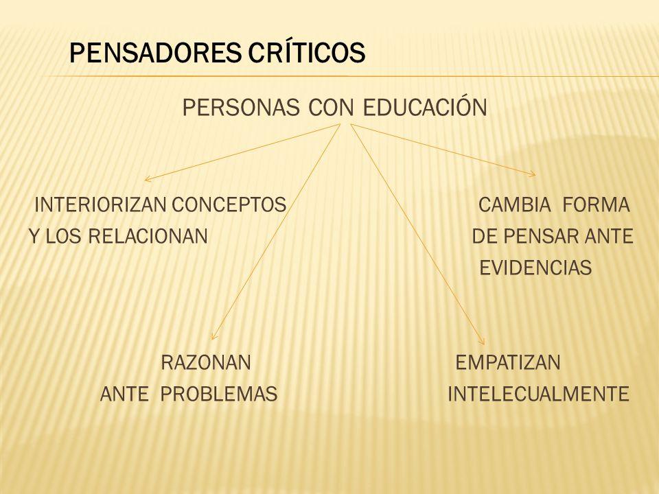 PERSONAS CON EDUCACIÓN