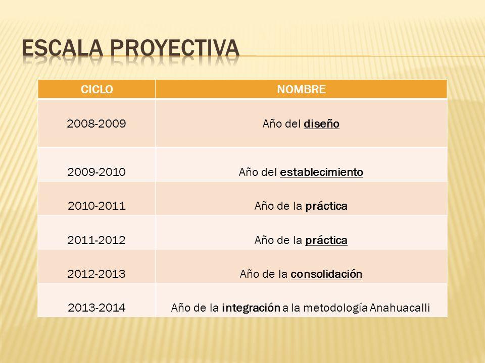 Escala proyectiva CICLO NOMBRE 2008-2009 Año del diseño 2009-2010
