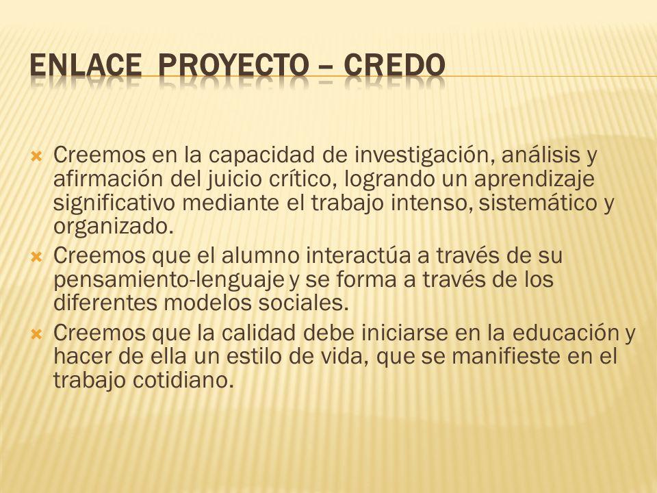 ENLACE PROYECTO – CREDO