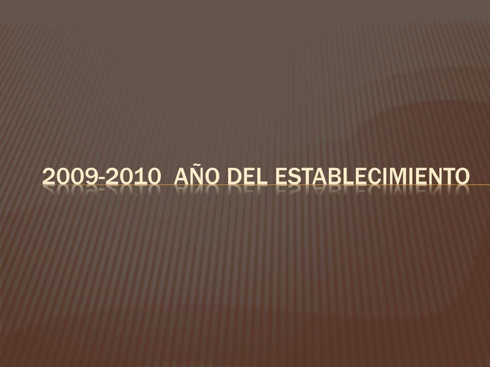 2009-2010 Año del establecimiento