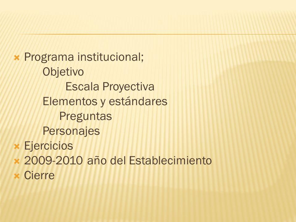 Programa institucional;