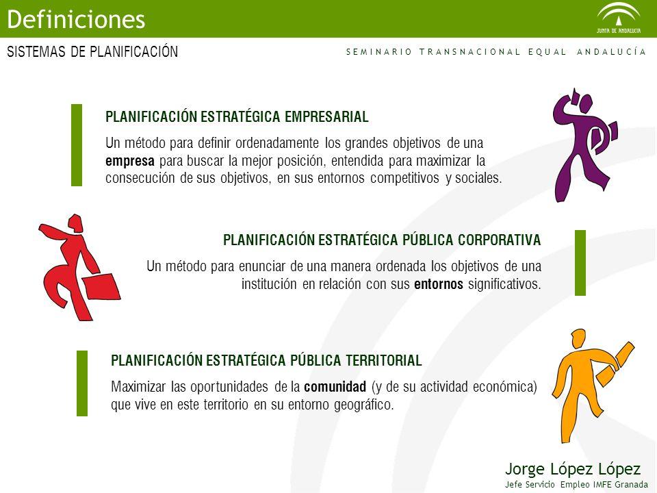 Definiciones Jorge López López SISTEMAS DE PLANIFICACIÓN