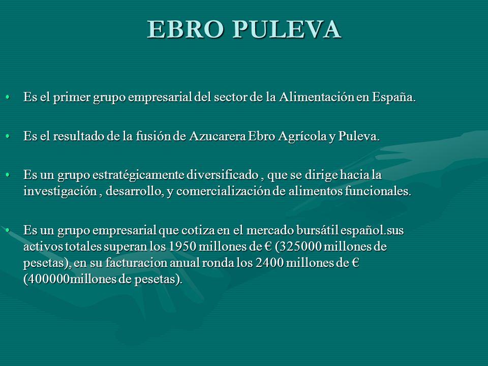 EBRO PULEVA Es el primer grupo empresarial del sector de la Alimentación en España.