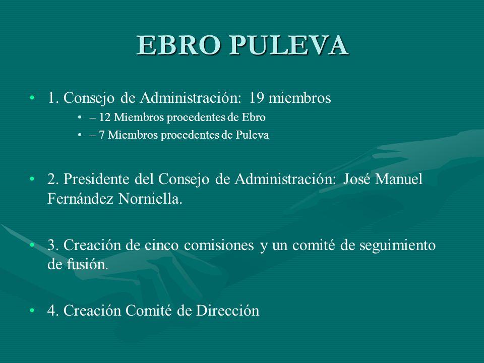 EBRO PULEVA 1. Consejo de Administración: 19 miembros