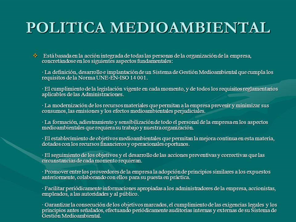 POLITICA MEDIOAMBIENTAL
