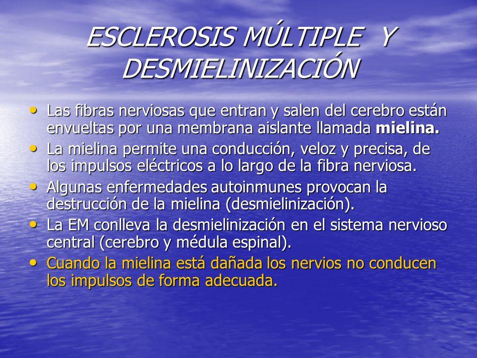 ESCLEROSIS MÚLTIPLE Y DESMIELINIZACIÓN