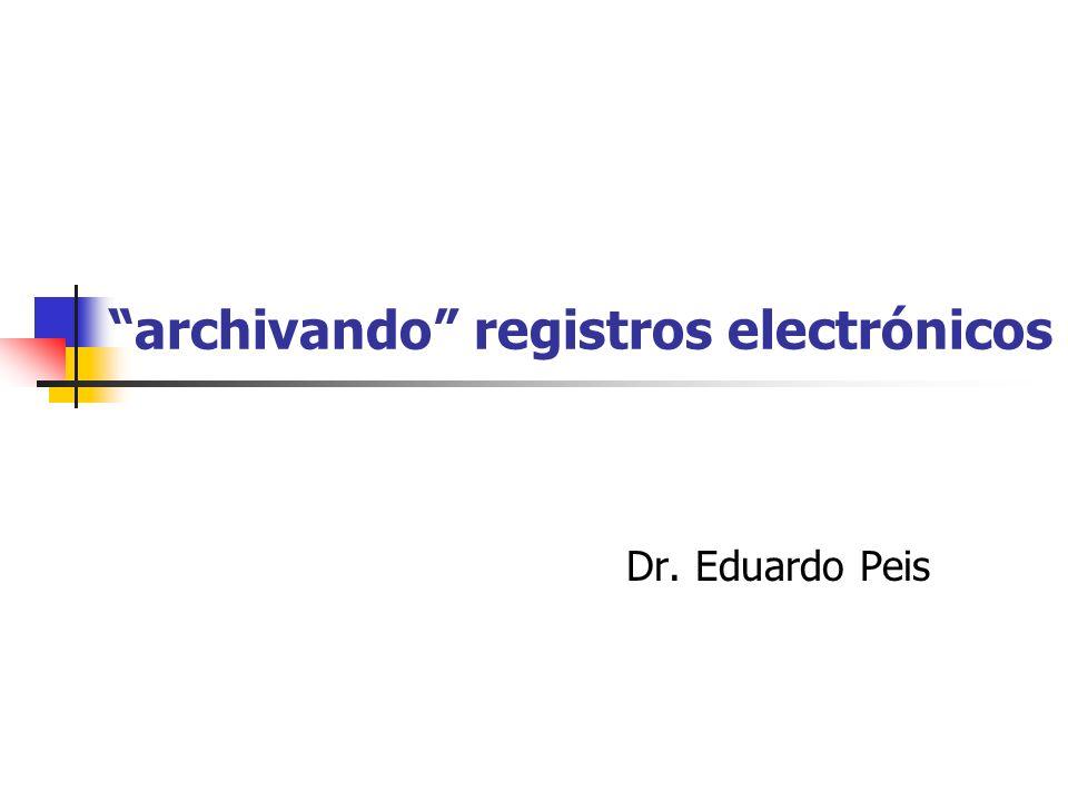 archivando registros electrónicos