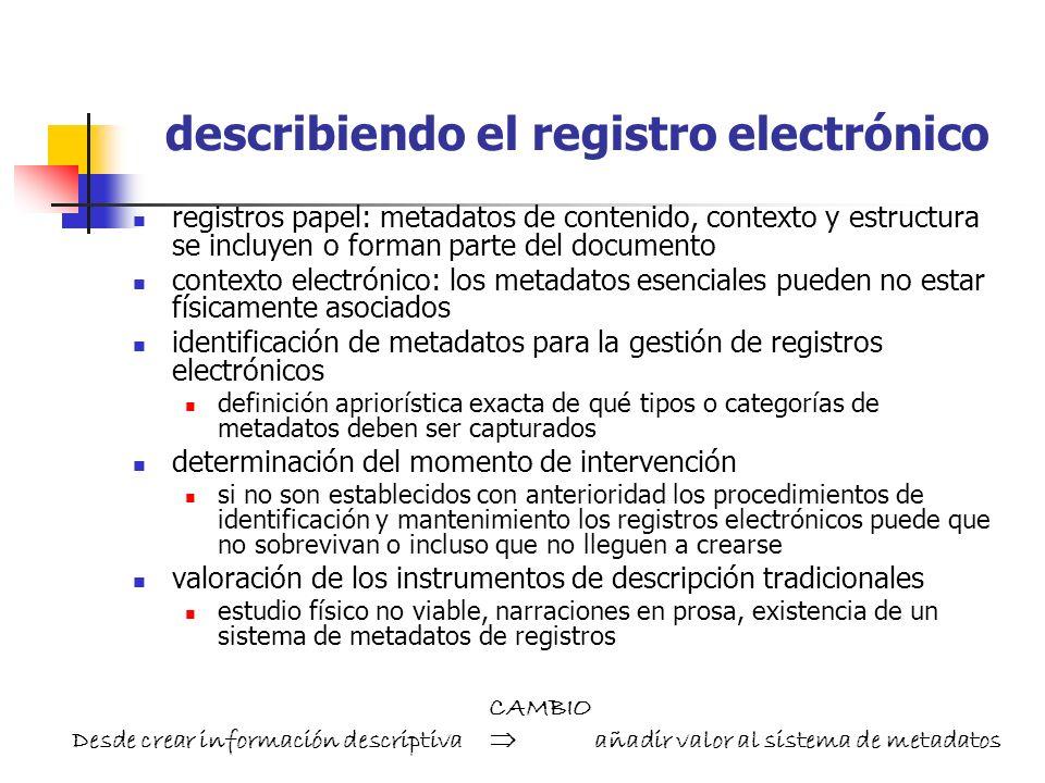 describiendo el registro electrónico