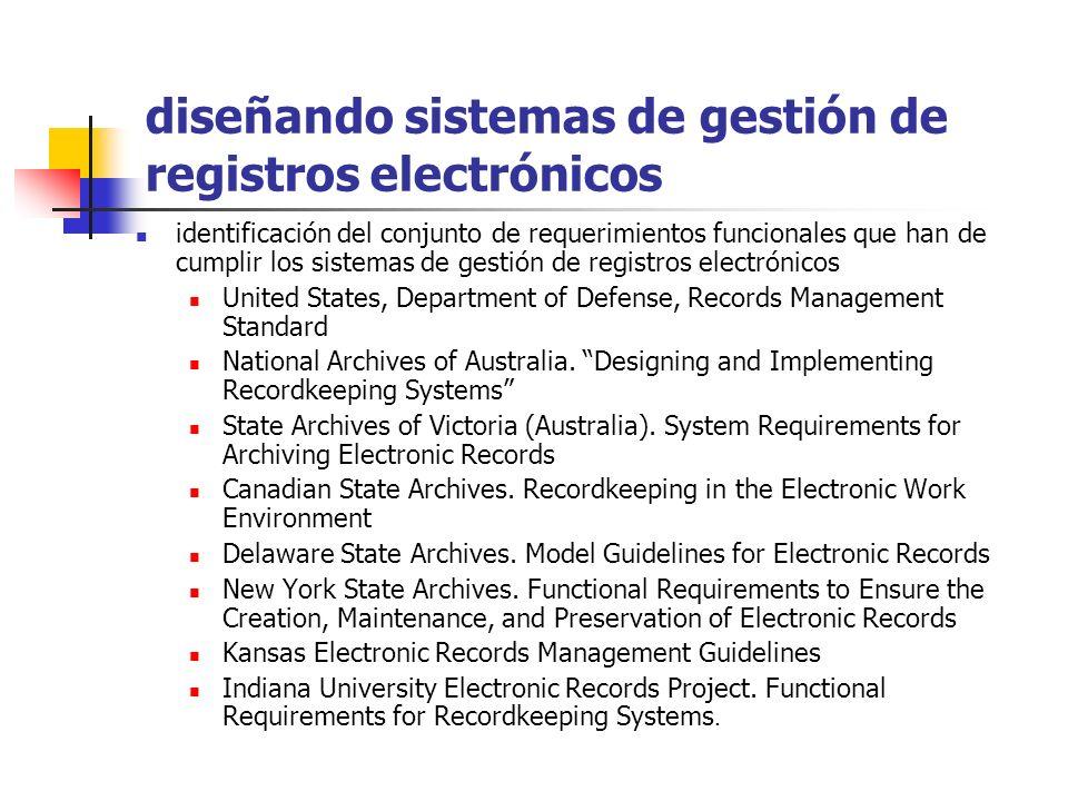 diseñando sistemas de gestión de registros electrónicos