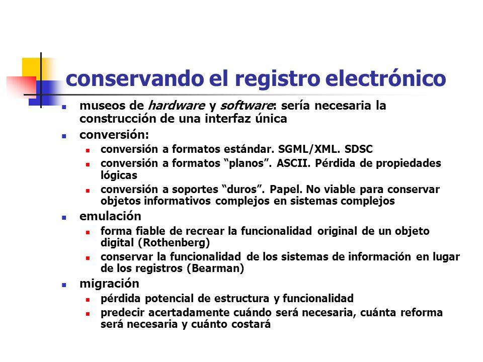 conservando el registro electrónico