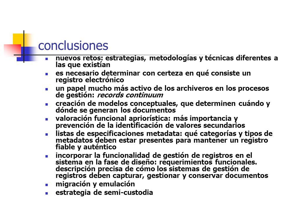 conclusionesnuevos retos: estrategias, metodologías y técnicas diferentes a las que existían.
