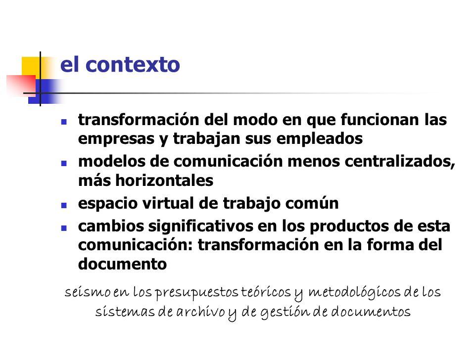 el contextotransformación del modo en que funcionan las empresas y trabajan sus empleados.