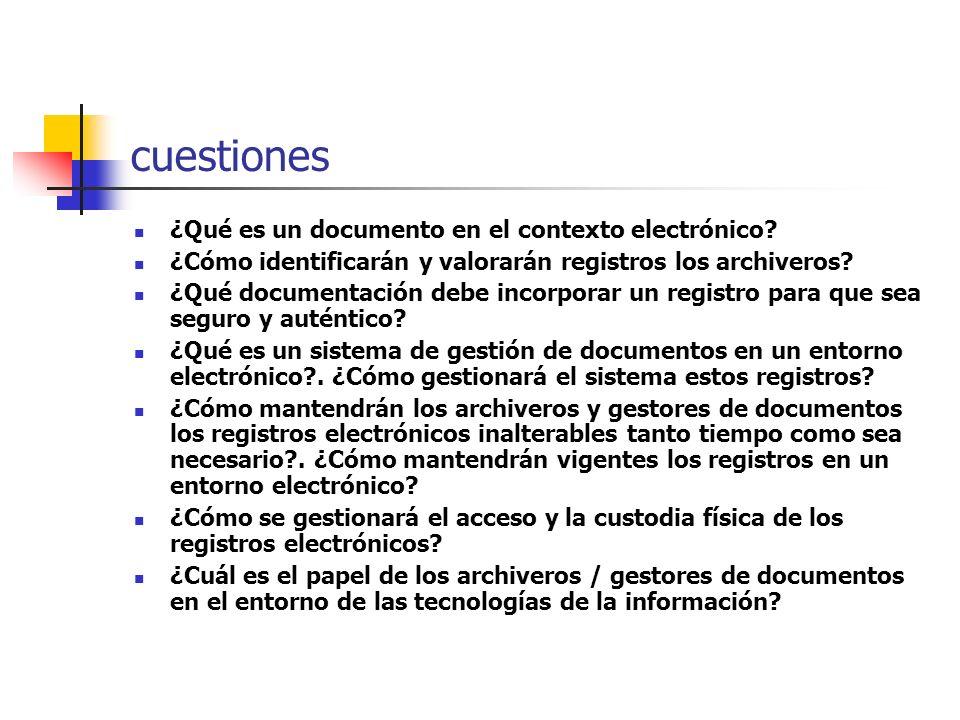 cuestiones ¿Qué es un documento en el contexto electrónico