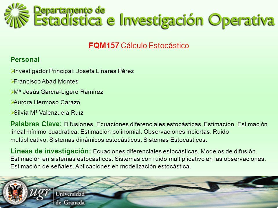 FQM157 Cálculo Estocástico