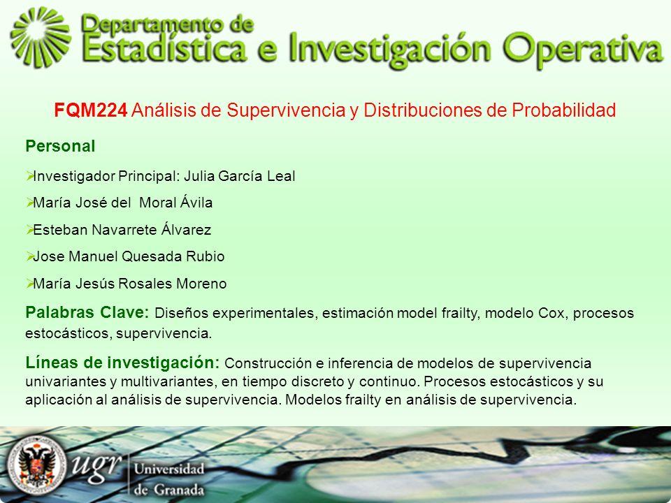 FQM224 Análisis de Supervivencia y Distribuciones de Probabilidad