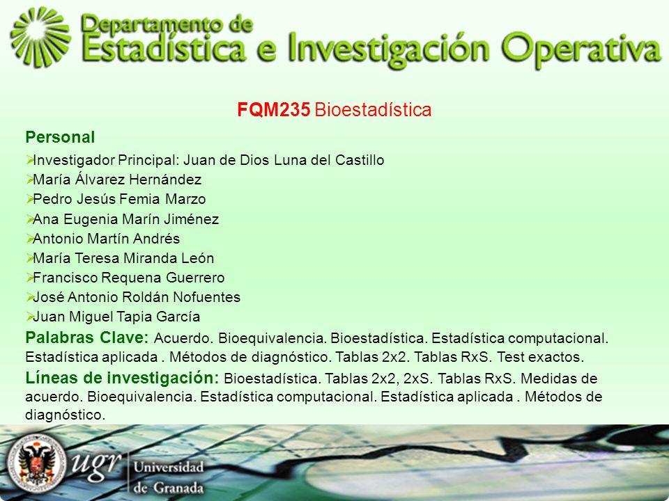FQM235 Bioestadística Personal