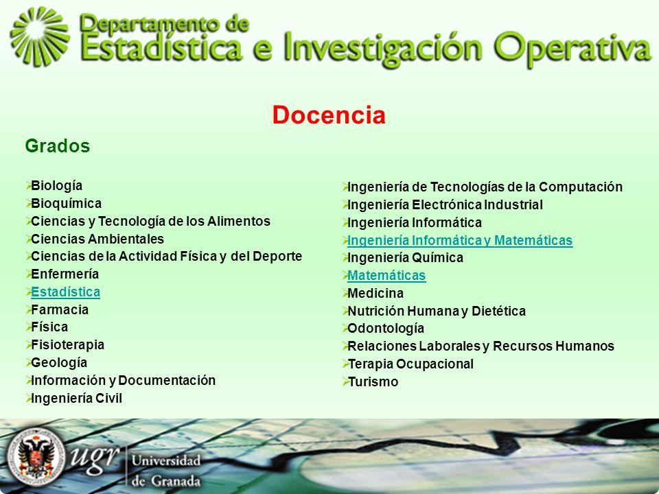 Docencia Grados Biología Bioquímica