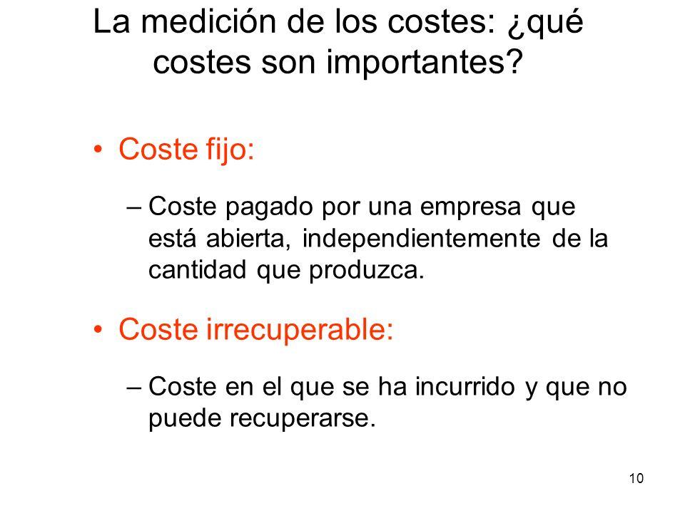 La medición de los costes: ¿qué costes son importantes