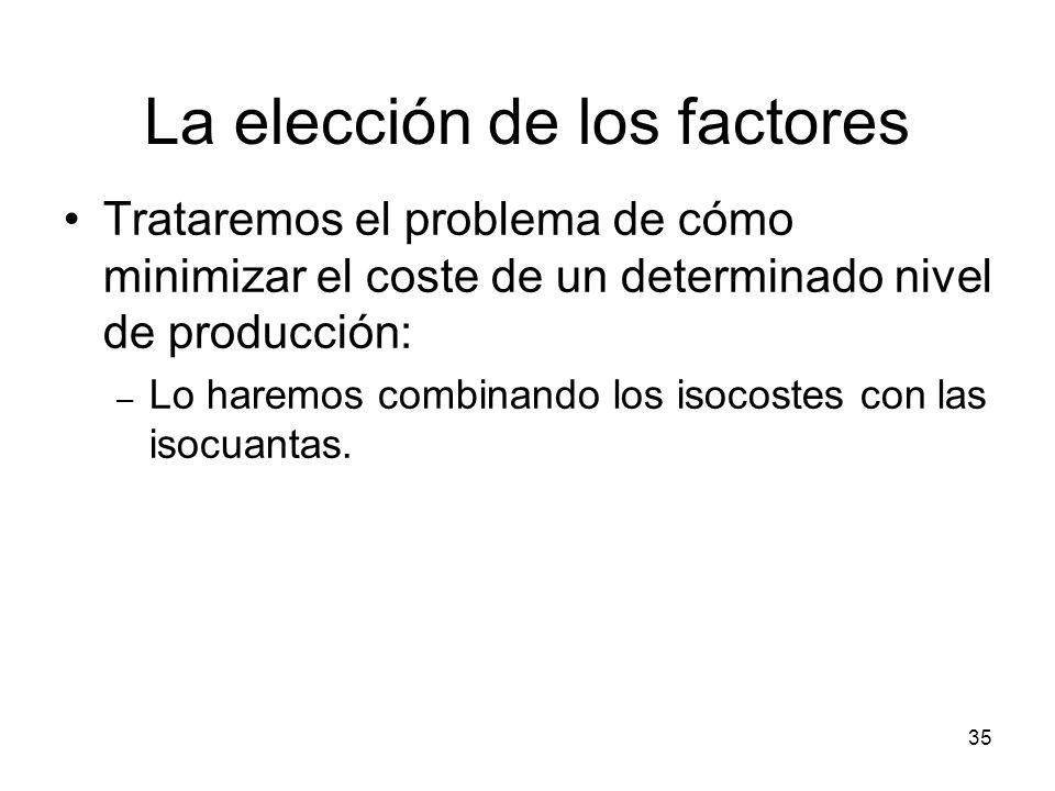 La elección de los factores