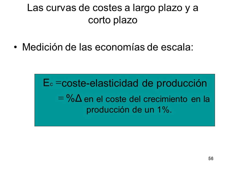 Las curvas de costes a largo plazo y a corto plazo