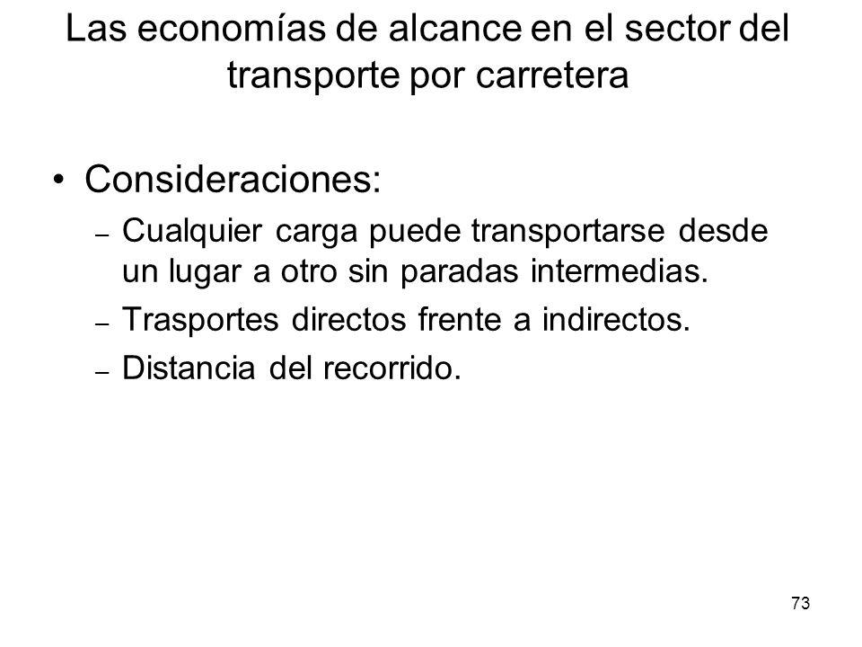 Las economías de alcance en el sector del transporte por carretera