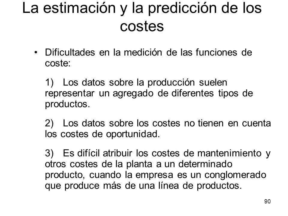 La estimación y la predicción de los costes
