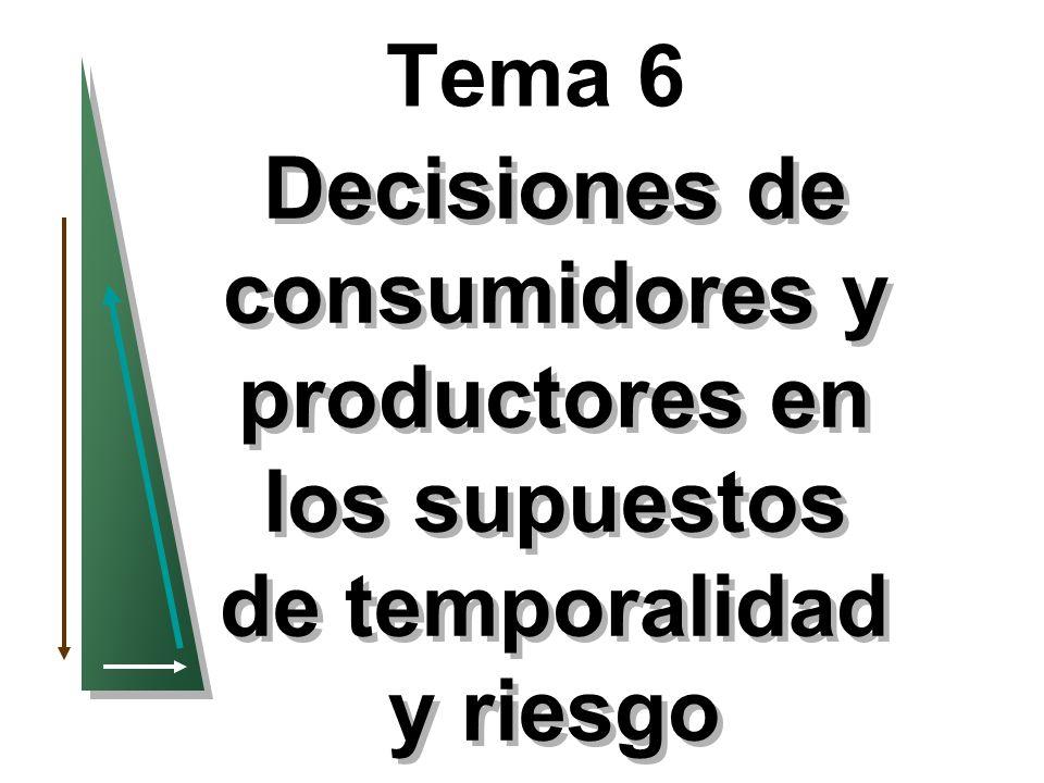 Tema 6 Decisiones de consumidores y productores en los supuestos de temporalidad y riesgo 1