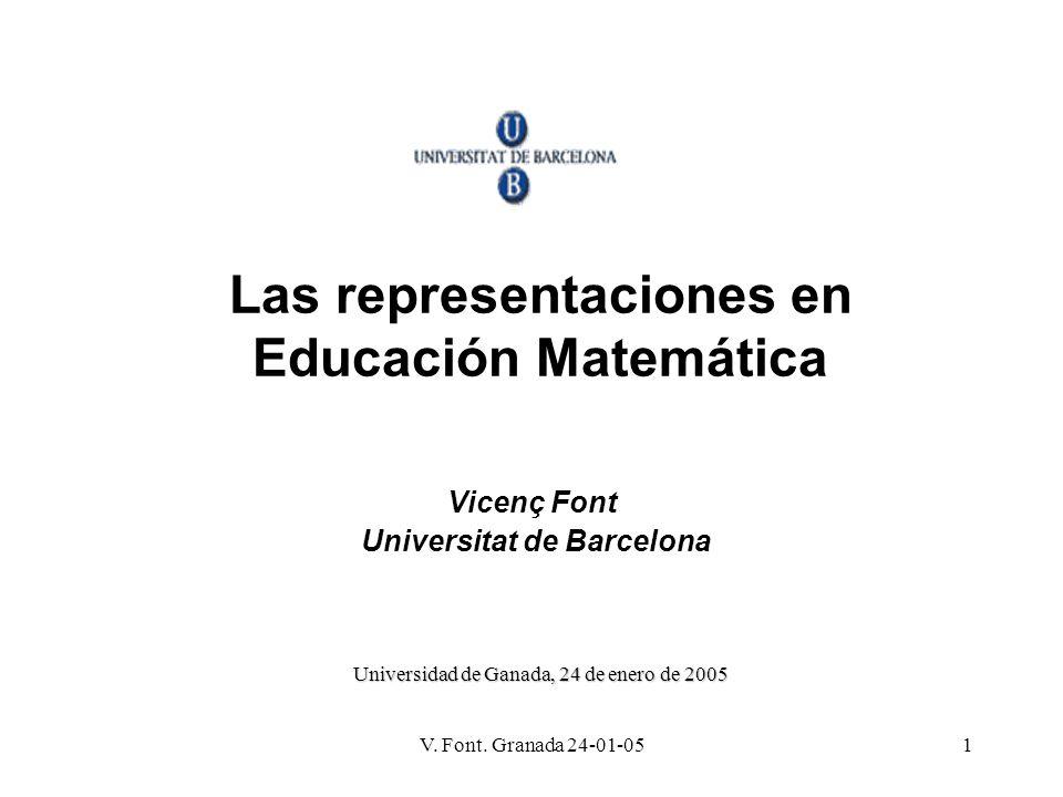 Las representaciones en Educación Matemática