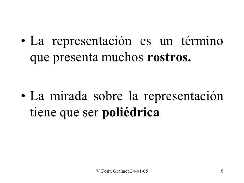 La representación es un término que presenta muchos rostros.