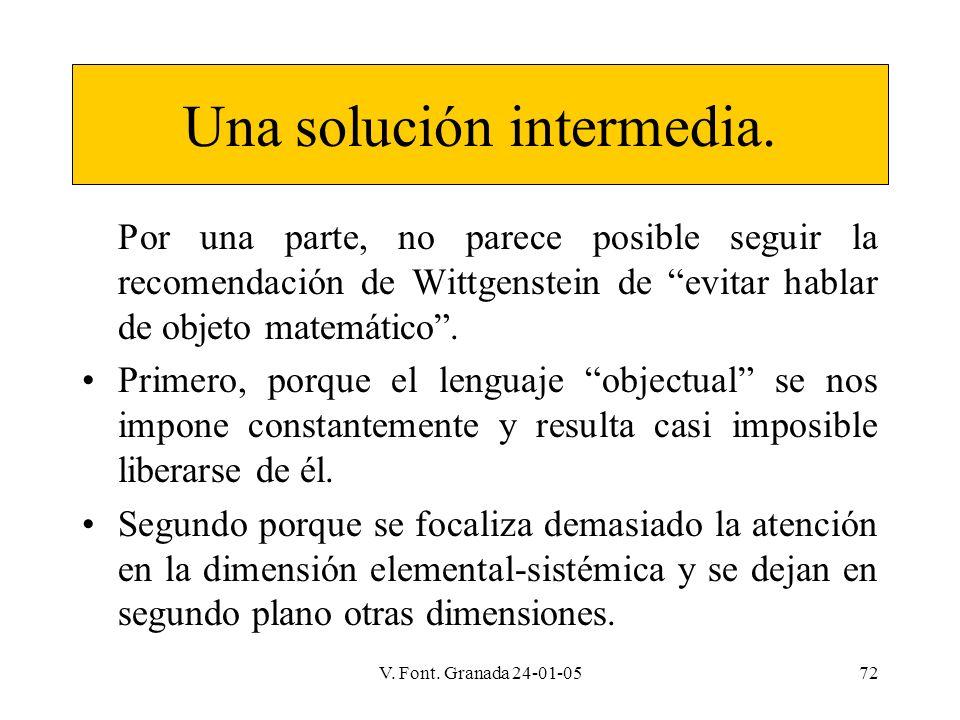 Una solución intermedia.