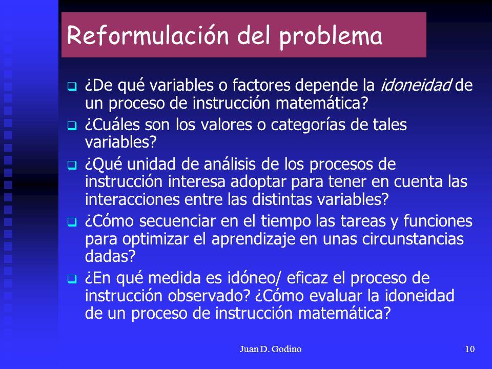 Reformulación del problema