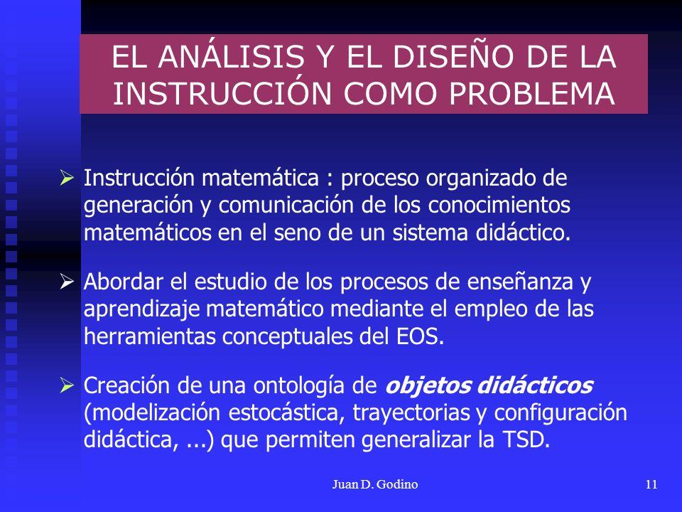 EL ANÁLISIS Y EL DISEÑO DE LA INSTRUCCIÓN COMO PROBLEMA