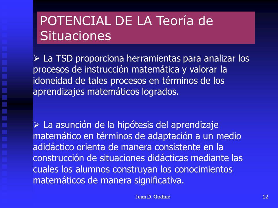 POTENCIAL DE LA Teoría de Situaciones