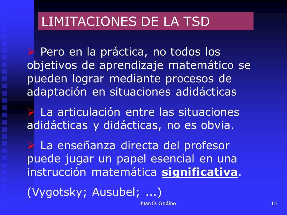 LIMITACIONES DE LA TSD