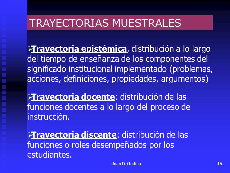 TRAYECTORIAS MUESTRALES
