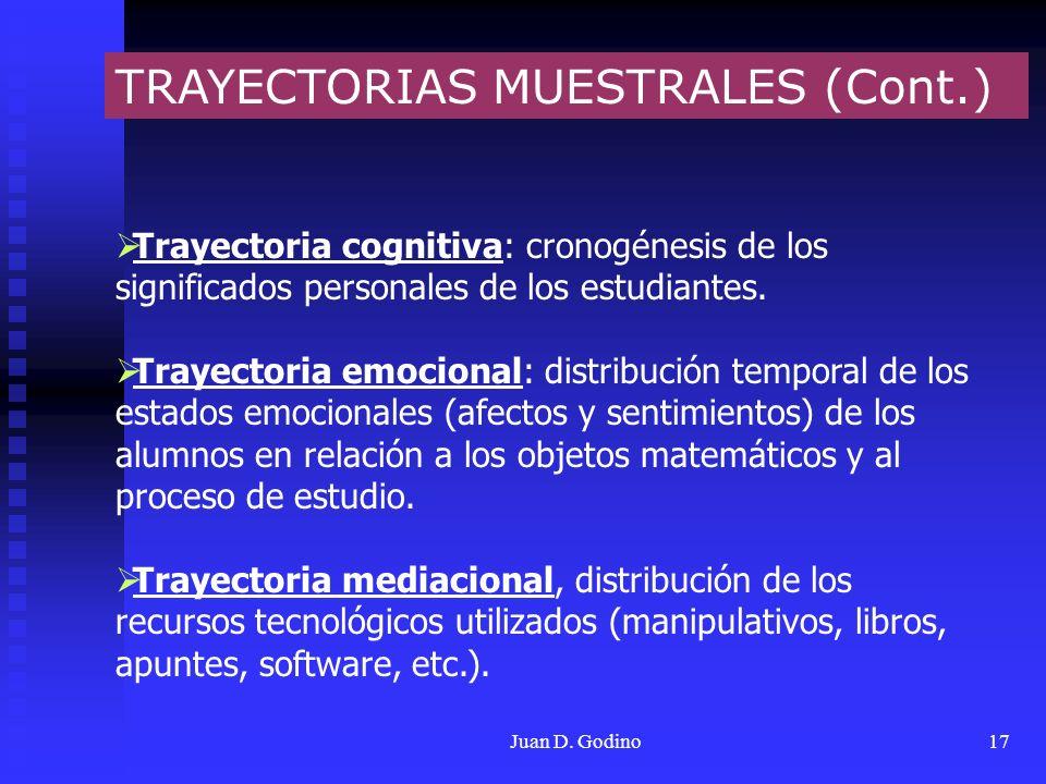 TRAYECTORIAS MUESTRALES (Cont.)
