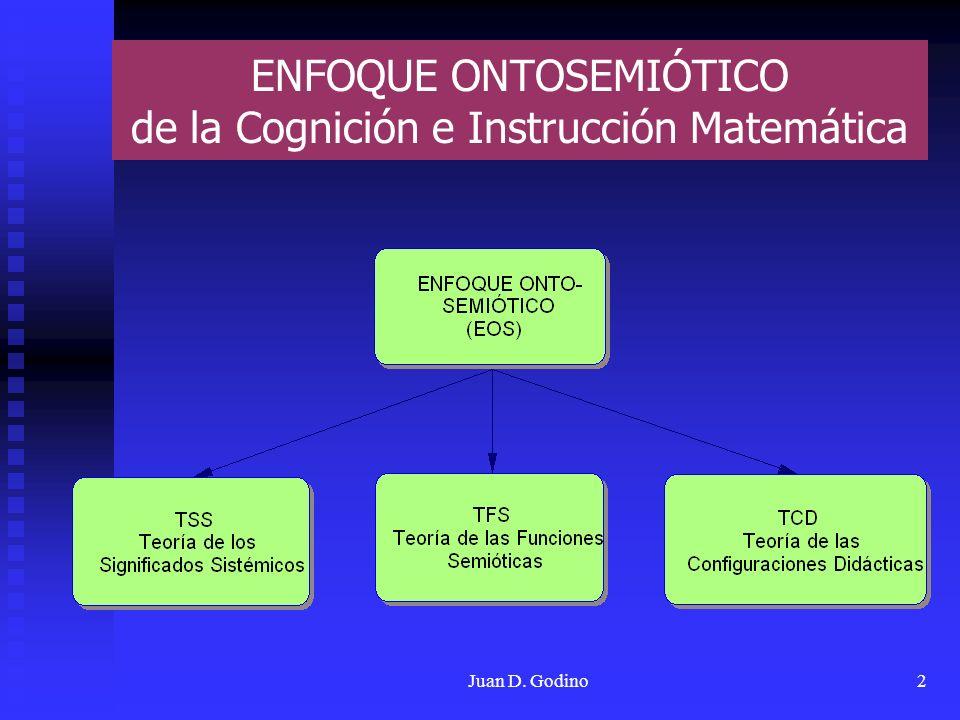 ENFOQUE ONTOSEMIÓTICO de la Cognición e Instrucción Matemática