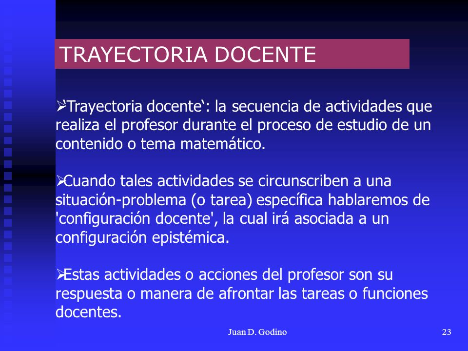 TRAYECTORIA DOCENTE