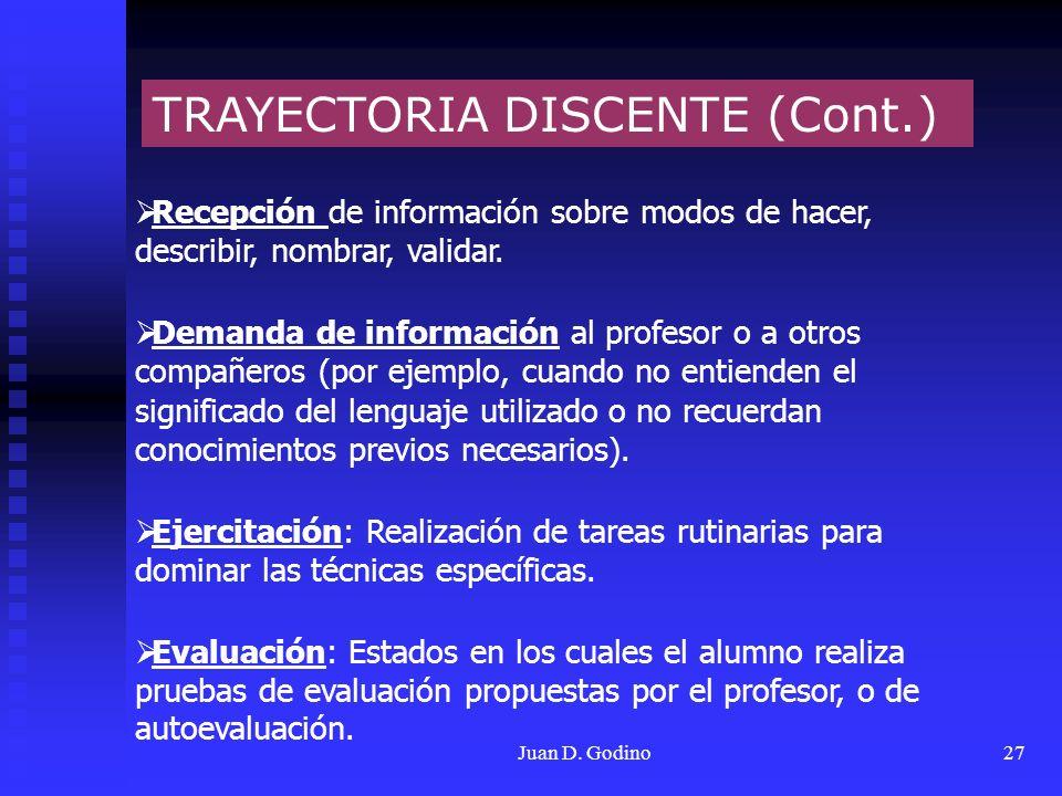 TRAYECTORIA DISCENTE (Cont.)