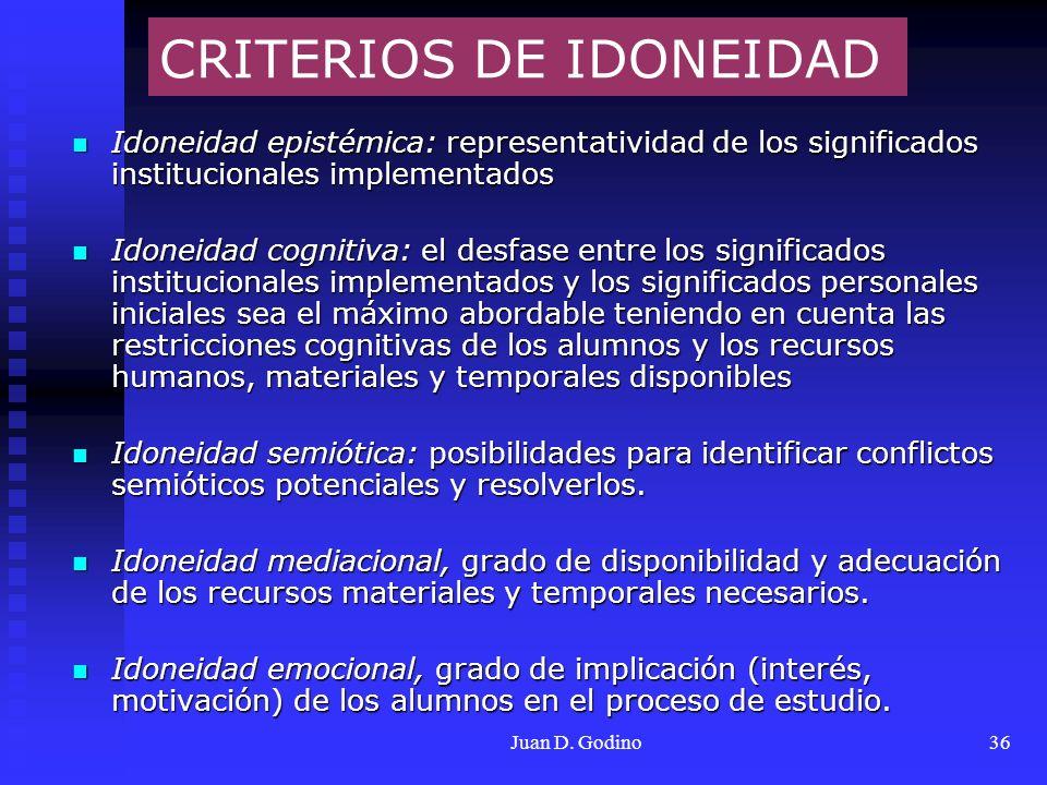 CRITERIOS DE IDONEIDAD