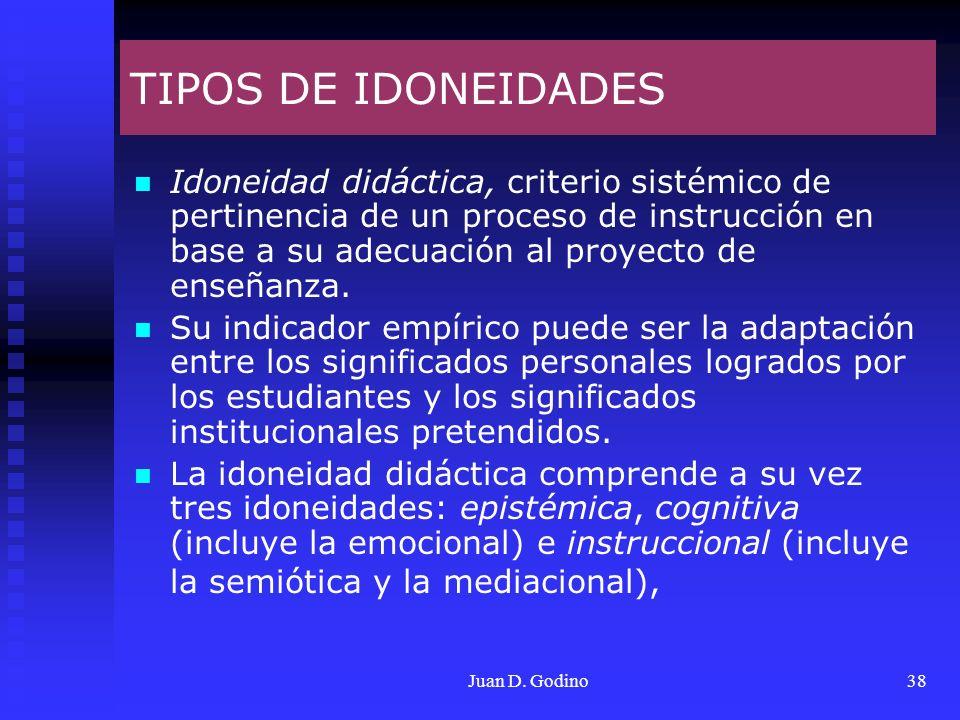 TIPOS DE IDONEIDADES