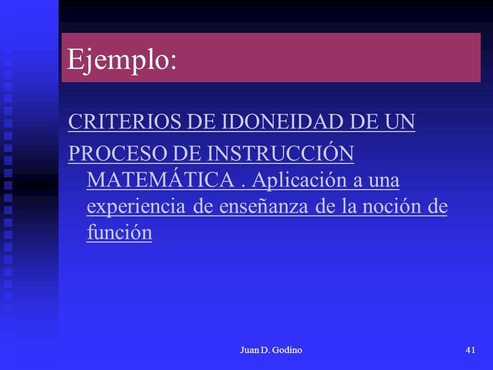 Ejemplo: CRITERIOS DE IDONEIDAD DE UN