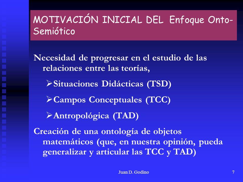 MOTIVACIÓN INICIAL DEL Enfoque Onto-Semiótico