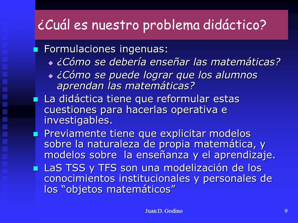 ¿Cuál es nuestro problema didáctico