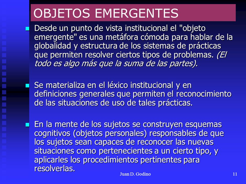 OBJETOS EMERGENTES
