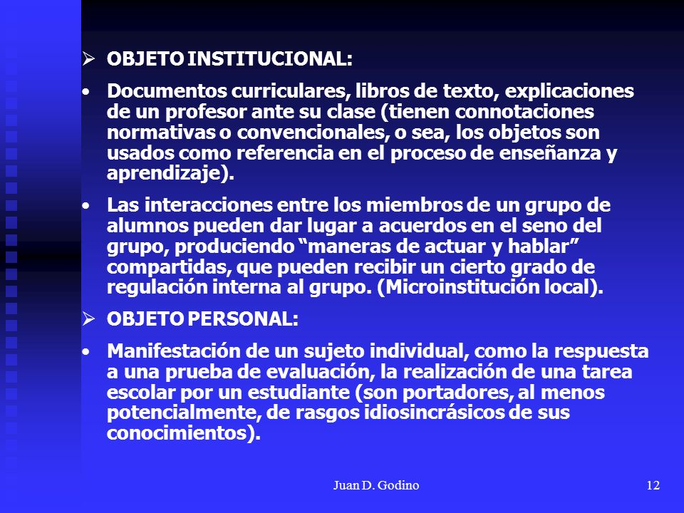 OBJETO INSTITUCIONAL: